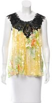Tracy Feith Embellished Silk Top