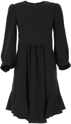 Chloé Ruffled Long-Sleeve Dress