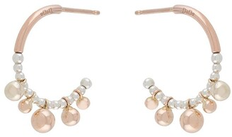 Dodo 9kt rose gold and silver small Bollicine earrings