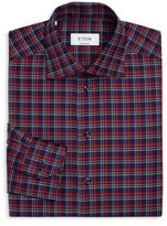 Eton Plaid Pattern Dress Shirt