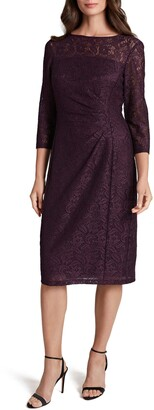 Tahari Sparkle Lace Sheath Cocktail Dress