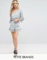 Miss Selfridge Petite Miss Selfridge Lace Crochet Trim Shorts