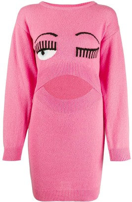 Chiara Ferragni Eye Wink Knit Dress