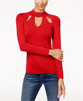 INC International Concepts Petite Cutout Mock-Neck Sweater, Only at Macy's