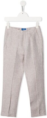 Fay Kids Pleated Detail Tailored Style Trousers
