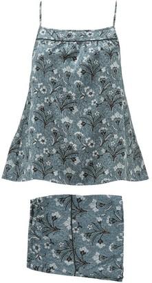 Morpho + Luna Coco Mirage-print Silk Pyjamas - Womens - Blue Multi