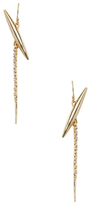 Alexis Bittar Crystal Encrusted Modernist Spear Drop Earrings