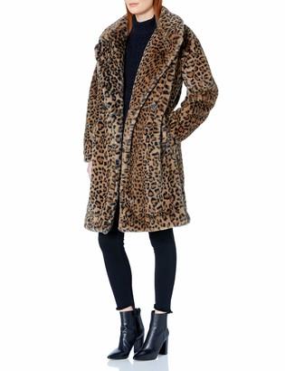 Calvin Klein Women's Leopard Faux Fur Coat