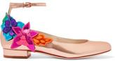 Sophia Webster Hula Metallic Leather Pumps - Pink