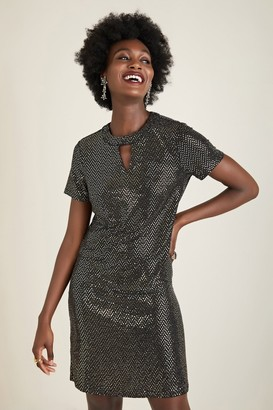 Yumi Gold Shimmer Tunic Dress