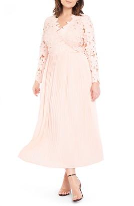 ELOQUII Lace Bodice Chiffon Gown