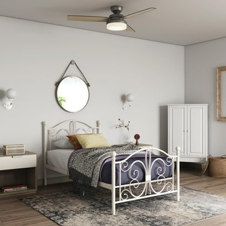 DHP Bombay Metal Bed, Twin Bed Frame, White