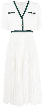Sandro Paris Cruise pleated dress