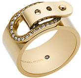 Michael Kors Pave Gold-Tone Buckle Ring