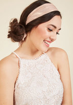ModCloth Influential Accessorizing Headband in Rose Shimmer