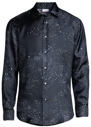 Brioni Starry Night Silk Dress Shirt