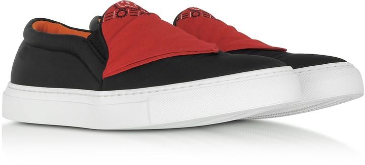 Thumbnail for your product : Joshua Sanders Black Nylon Slip On Bandana Sneakers