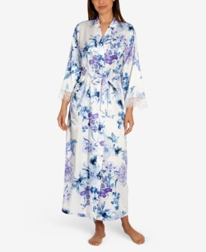 Linea Donatella Noralee Floral-Print Wrap Robe