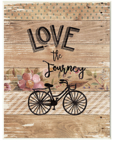 Enjoy the Journey Bicycle and Flowers by Jo Moulton (Wood)