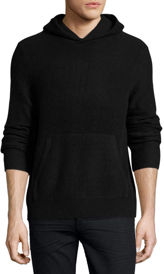 Vince Boiled Cashmere Hooded Sweater