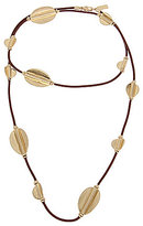 Kenneth Cole New York Long Leather Station Necklace