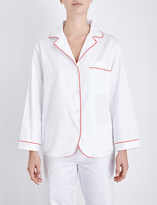 Bodas Cotton-sateen pyjama shirt