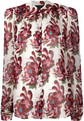 John Richmond silk floral blouse