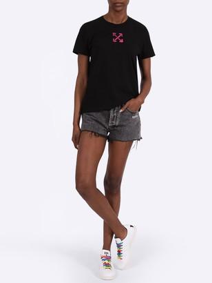 Off-White Dark Grey Denim Shorts