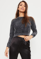 Missguided Petite Black Zip Side Sweater