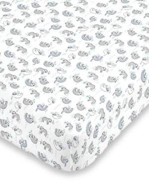 NoJo Sloth Print Crib Sheet Bedding