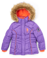 U.S. Polo Assn. Royal Purple Puffer Coat - Toddler