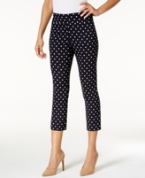 Charter Club Petite Cambridge Printed Capri Pants, Created for Macy's