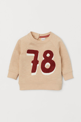 H&M Sweatshirt with Applique - Beige