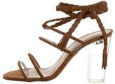 Ritch Erani NYFC Suede Lace-Up Sandals