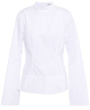 Erdem Sharon Button-detailed Cotton-poplin Top