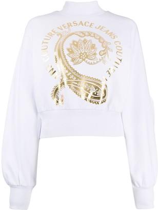 Versace Jeans Couture Floral Paisley-Print Cotton Sweatshirt