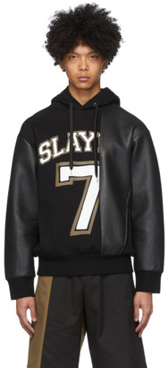 Neil Barrett Black Ecoleather Slay 7 Hoodie