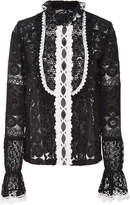 Anna Sui Rows Of Flowers Lace Blouse