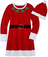 It's Our Time IT S OUR TIME Fashion Avenue Short-Sleeve Red Santa Sweater Dress - Girls 7-16