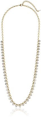 Sorrelli Lisa Oswald Collection Petite Round Crystal Long Strand Necklace 36""