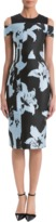 J. Mendel Off-The-Shoulder Lily Scuba Dress