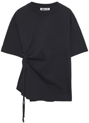 McQ Ruched Cotton-jersey T-shirt