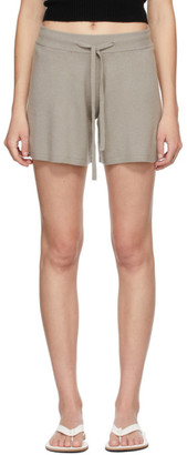 Lisa Yang Taupe Cashmere The Gio Shorts