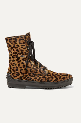 Tod's Leopard-print Calf Hair Ankle Boots - Leopard print