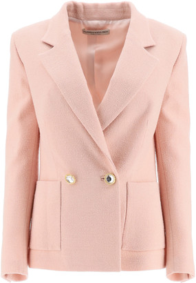 Alessandra Rich Double Breasted Tweed Jacket