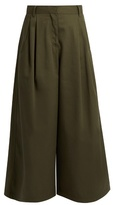 Valentino High-rise cotton-gabardine cropped trousers