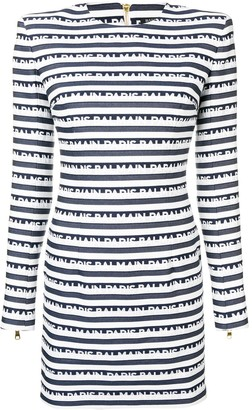 Balmain Logo Stripe Dress