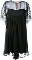No.21 sheer panel dress - women - Silk/Polyamide/Viscose - 42