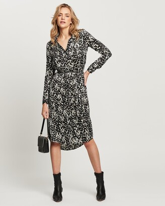 Vero Moda Women's Green Midi Dresses - Becky Long Sleeve Calf Dress - Size One Size, M at The Iconic