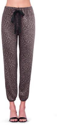 Sundry Leopard Print Jogger Pants